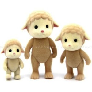 3PCS-Sylvanian-Families-Sheep-Family-Calico-Critters-Animals-Figure-Baby-Dolls