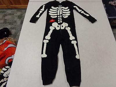Gymboree Glow In The Dark Skeleton Zip Up Hoodie size 2t A104
