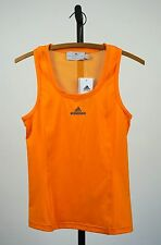 STELLA MCCARTNEY Adidas Barricade Tank Top Tennis Orange Mesh Size 36 S