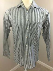 Donald-J-Trump-Signature-Collection-Gray-Herringbone-weave-Striped-mens-shirt