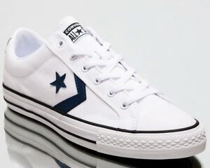 85059a62b017 Converse Star Player Ox Summer Twill Men Shoes Mens Sneakers White ...