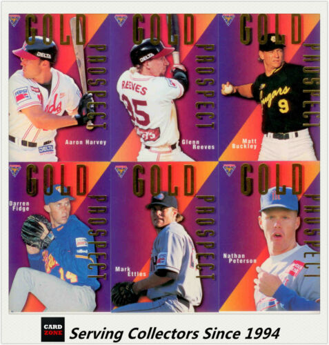 1996 Futera Australia Baseball Card ABL Gold Prospects Subset Full Set 6