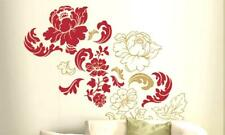 GILDED ROSE Damask Vintage Floral Scroll Ornate Decor Wall Mural Decal Sticker