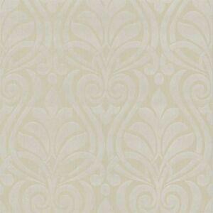 Faint Gold White Damask Wallpaper Textured Modern Paste The Wall