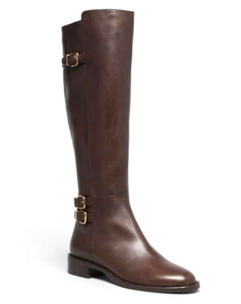 Via Spiga Women's Beba Brown Leather Leather Leather Tall Riding Boots Size 10 M 36f239