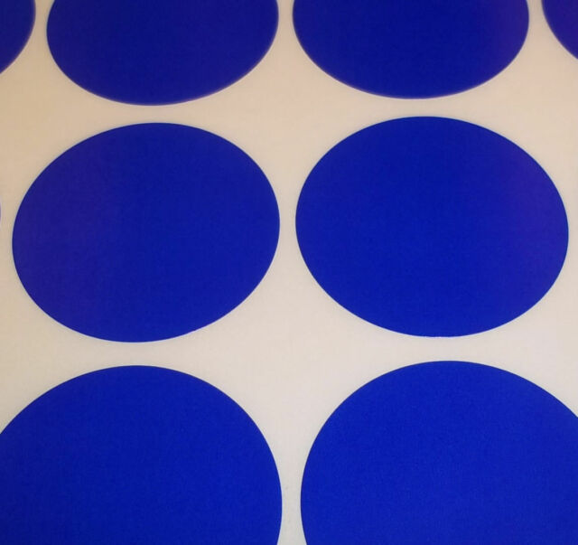 500 Dark Blue 20mm 3/4 Inch Colour Code Dots Round Stickers Sticky ID Labels
