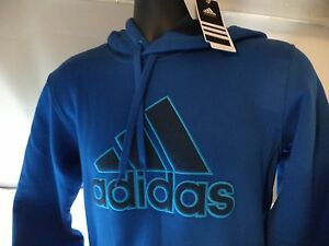 adidas-Performance-Men-Essential-Heavyweight-Fleece-Pullover-Hoodie-Size-S-3XL