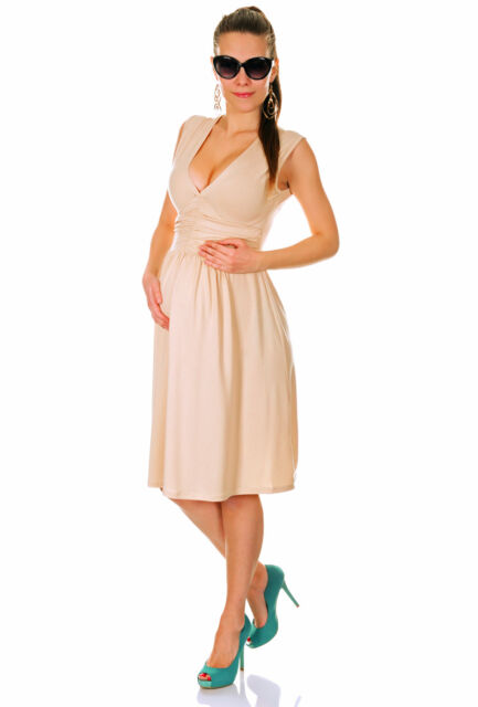 Maternity V-Neck Sleeveless Circle  Dress UK 8-18 • US 6-16 • EU 36-48 ~655~