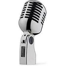 Stagg md007crh Audio Vocal Micrófono De Grabación 50 De Estilo Retro Caraoke Plata