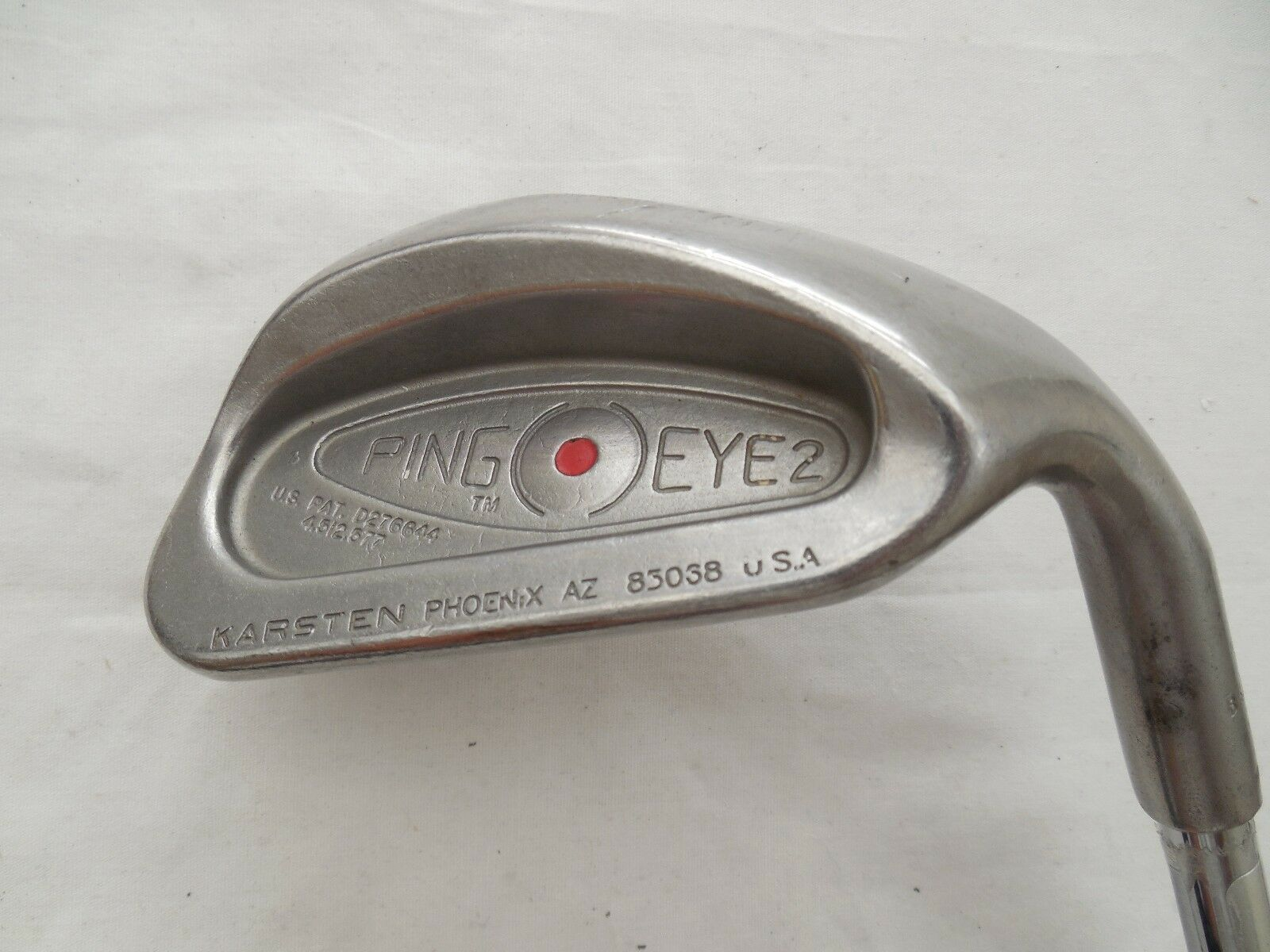 Utiliza Ping Eye  2 punto rojo único tejido Cuña de arena Ping ZZ-Lite Eje De Acero rígido Flex Diestros  Felices compras