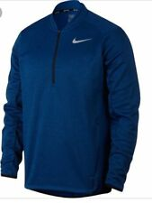 Nike Golf Therma-fit Half Zip Pullover Mens Blue 854349-433 Breathable M