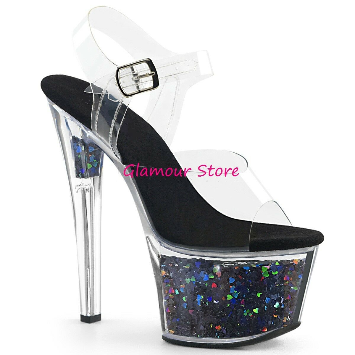 conveniente Sexy SANDALI GLITTER vari ColorI tacco 18 dal dal dal 35 al 41 plateau zapatos GLAMOUR  hermoso
