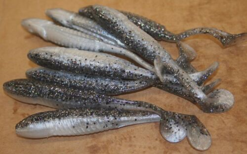 "5/"" Swim Minnow Magic Shad Swimbait Trailer for A Rig 50 pack bulk Plastic Worm"