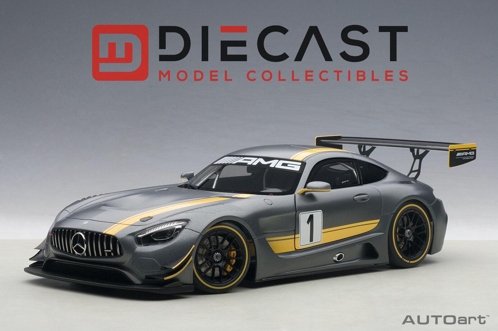 AUTOart 81530 Mercedes-AMG GT3 Presentation Car, Grey, Composite  1:18TH Scale
