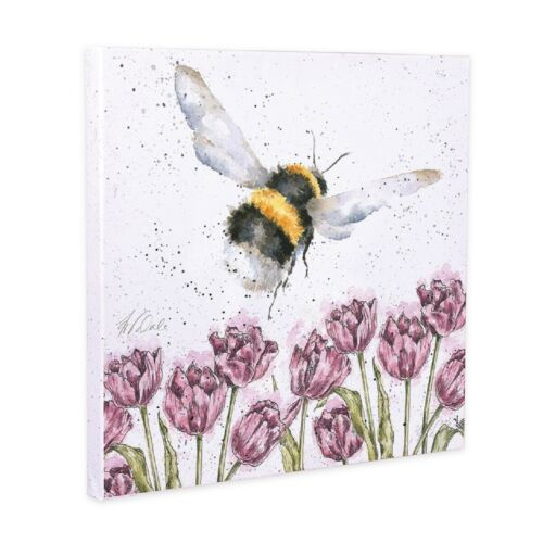 Wrendale Designs 'Flight of the Bumblebee' Canvas Print 20cm
