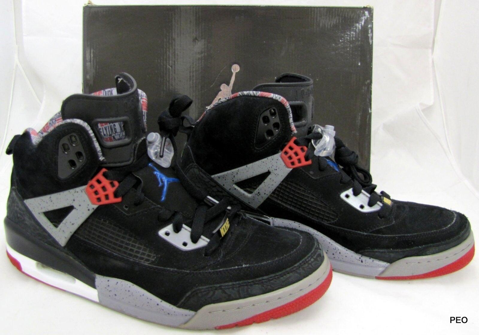 Nike Air Jordan Spizike Mens Sz 10.5 Black/Red/Gray Basketball Shoes 315371-062