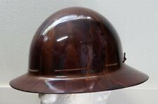 Vintage Msa Skullgard Type K Full Brim Miner Safety Hard Hat Helmet With Liner S M