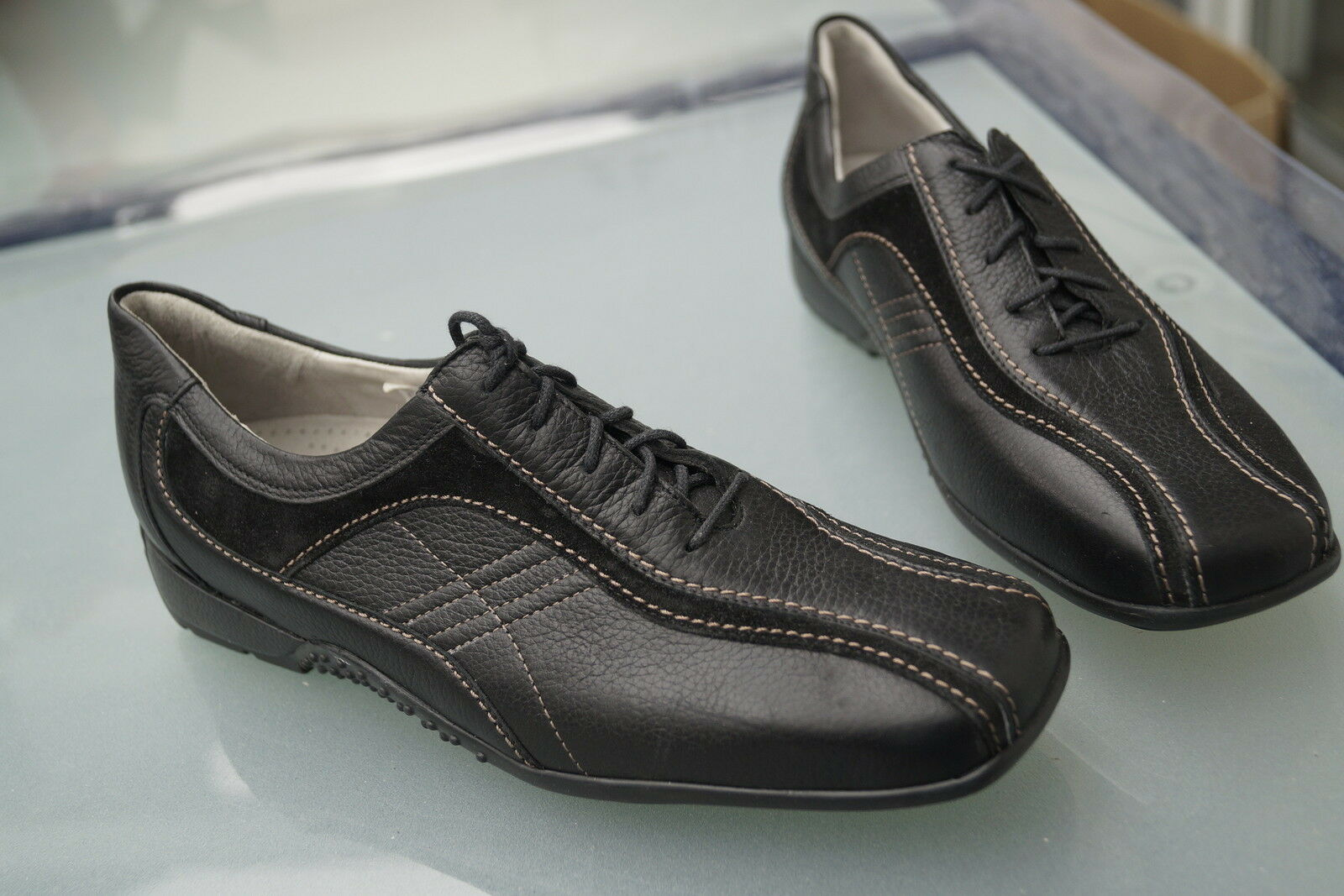 WBLDLÄUFER Damen Comfort Schuhe Schnürschuh m Einlagen schwarz Gr.4,5 G 37,5 NEU