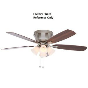 Hampton bay hollandale 52 in brushed nickel ceiling fan replacement image is loading hampton bay hollandale 52 in brushed nickel ceiling aloadofball Gallery