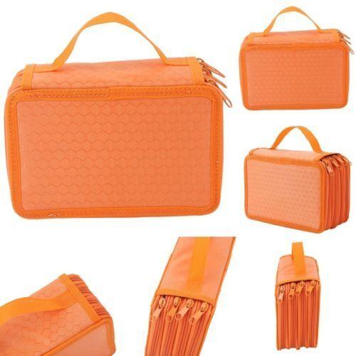 4 Layers 72 Slots Large Pencil Brush Case Box Pen Pouch Bag Makeup Organizer UK