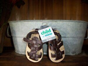 CHILD OF MINE BOYS INFANT SANDALS SHOES SIZE 0-3 MONTHS ...