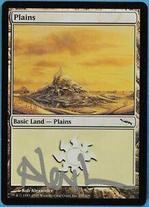 ABUGames Plains ID# s1654 288 Mirrodin NM Basic Land Artist Signed MTG CARD
