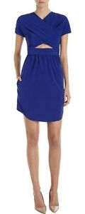 Uk F38 Royal 10 Stretch Blue Cutout Shift Carven Dress 1g0d6Yw6q