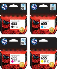 4x HP 655 ORIGINAL TINTE PATRONEN DeskJet Ink Advantage 3525 4615 4625 5525 6525