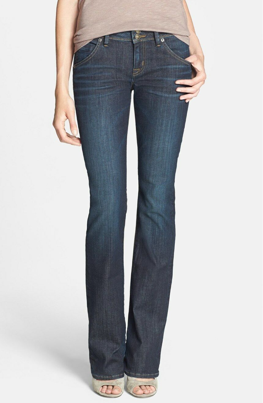 NEW OO+ HUDSON JEANS 'Beth' Baby Bootcut Jeans COLOR TPINNW176ZAN DARK 16