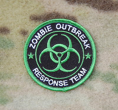 Toxic Green ZOMBIE OUTBREAK RESPONSE TEAM Tactical Biohazard Patch Undead Hook