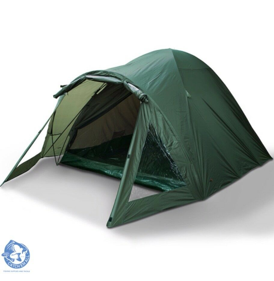 NGT 2 Man Double Skinned Carp Fishing Bivvy Tent with Groundsheet Pegs Camping