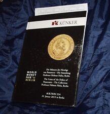 Kunker  2013 catalogo asta numismatica monete medaglie collezione Helmut Hahn