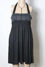 Melrose Kleid Gr. 34-36 schwarz kurz Empire Neckholder Mini Kleid mit Pünktchen