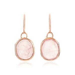 BRAND-NEW-Monica-Vinader-Rose-Gold-Vermeil-Rose-Quartz-Siren-Wire-Earrings-115