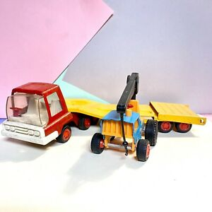 Triang-Mighty-Mini-Hi-Way-Flat-Bed-Lorry-With-Tractor-Fair-Condition-1970s