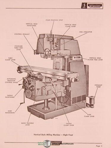 Kearney /& Trecker S-12 /& S-15 66 page SM-66 Milling Maintenance Manual 1966
