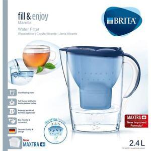 BRITA-Marella-Cool-MAXTRA-Plus-2-4L-Water-Filter-Fridge-Jug-1-Cartridge-Blue