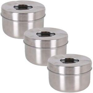 3x-Metall-Aschenbecher-Ascher-Sturmaschenbecher-Windaschenbecher-Gastro-11x6-5cm