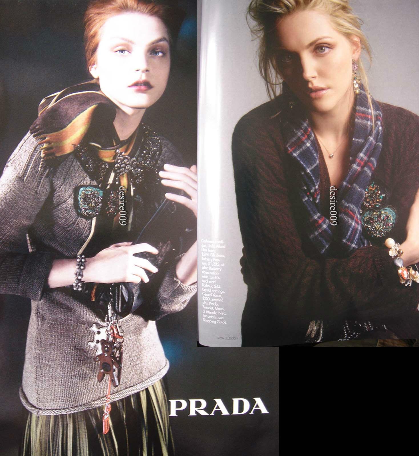 PRADA Abstract Coffee Sweater Jeweled Appliqué I40 I40 I40 S to M fa18ff