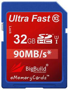 32GB-Memory-card-for-Fujifilm-FinePix-XP90-Camera-Class-10-90MB-s-SD-SDHC-New