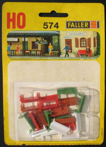 Faller 574-Panchine//Benches-traccia h0-Ferrovie Accessori Set