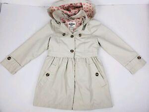 Outerwear Oshkosh B'gosh Dress Rain Jacket Raincoat Trenchcoat Beige Pink Size 6x Buy One Give One