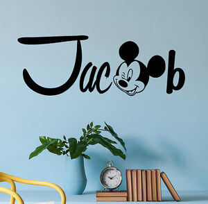Details About Personalized Name Wall Decal Mickey Mouse Decals Room Boys Nursery Decor Dr47