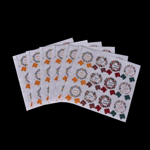 60pcs Hand Made Medal Sealing label Sticker For Cake Decoration buenoPDH