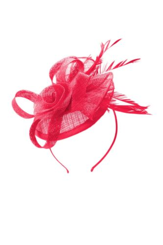 Ladies Women Headband Clip Head Flower Sinamay Wedding Occasion Hat Fascinator