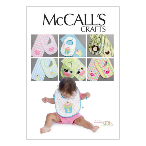 McCall/'s 6478 Sewing Pattern to MAKE Infants/' Bibs and Burp Cloths w// Appliqués
