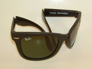 b906d2cc75 Image is loading New-RAY-BAN-Sunglasses-FOLDING-WAYFARER-Matte-Black-