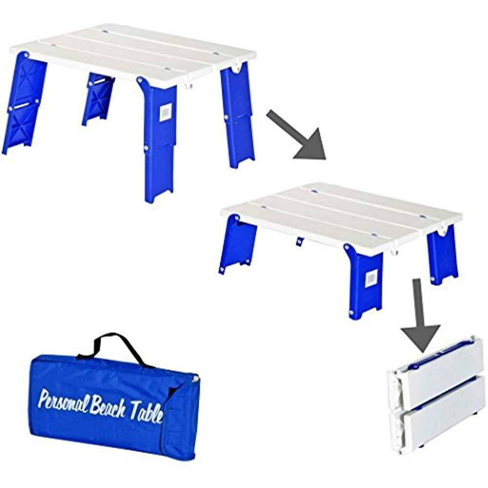 Rio Brands Compact Folding Beach  Camping Table  70% off