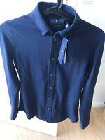 Skjorte, Ralph Lauren, str. 36, Ubrugt, Navy 100