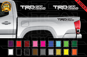 PAIR Silver Gray Vinyl Truck Bed Replacement Decals TOYOTA TRD Off Road